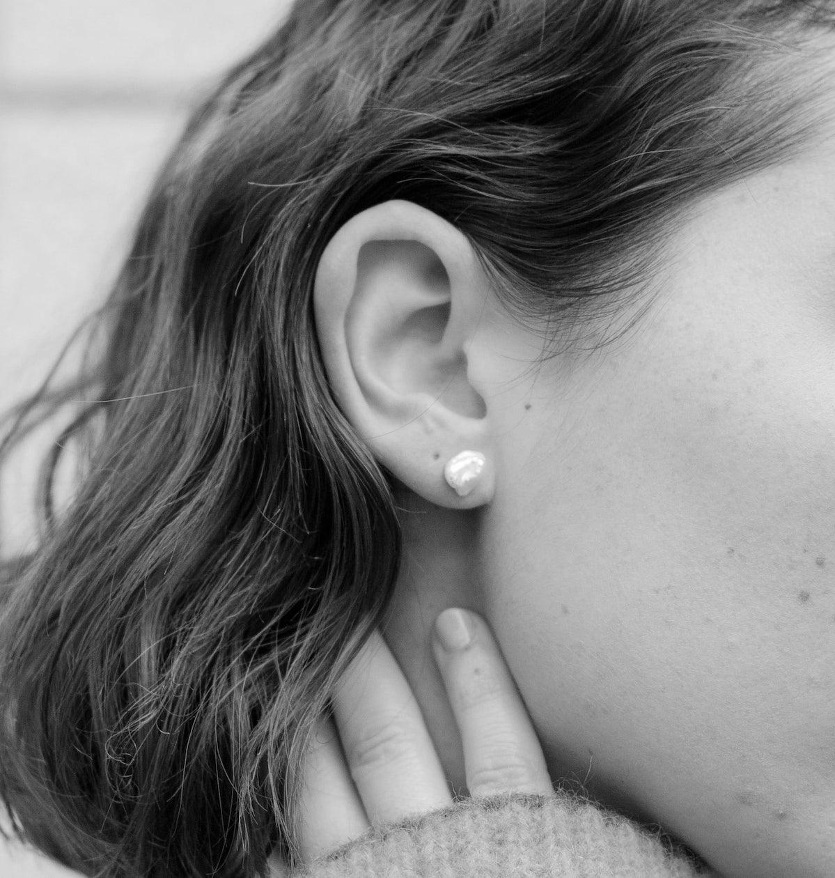 Small Baroque Pearl Earrings