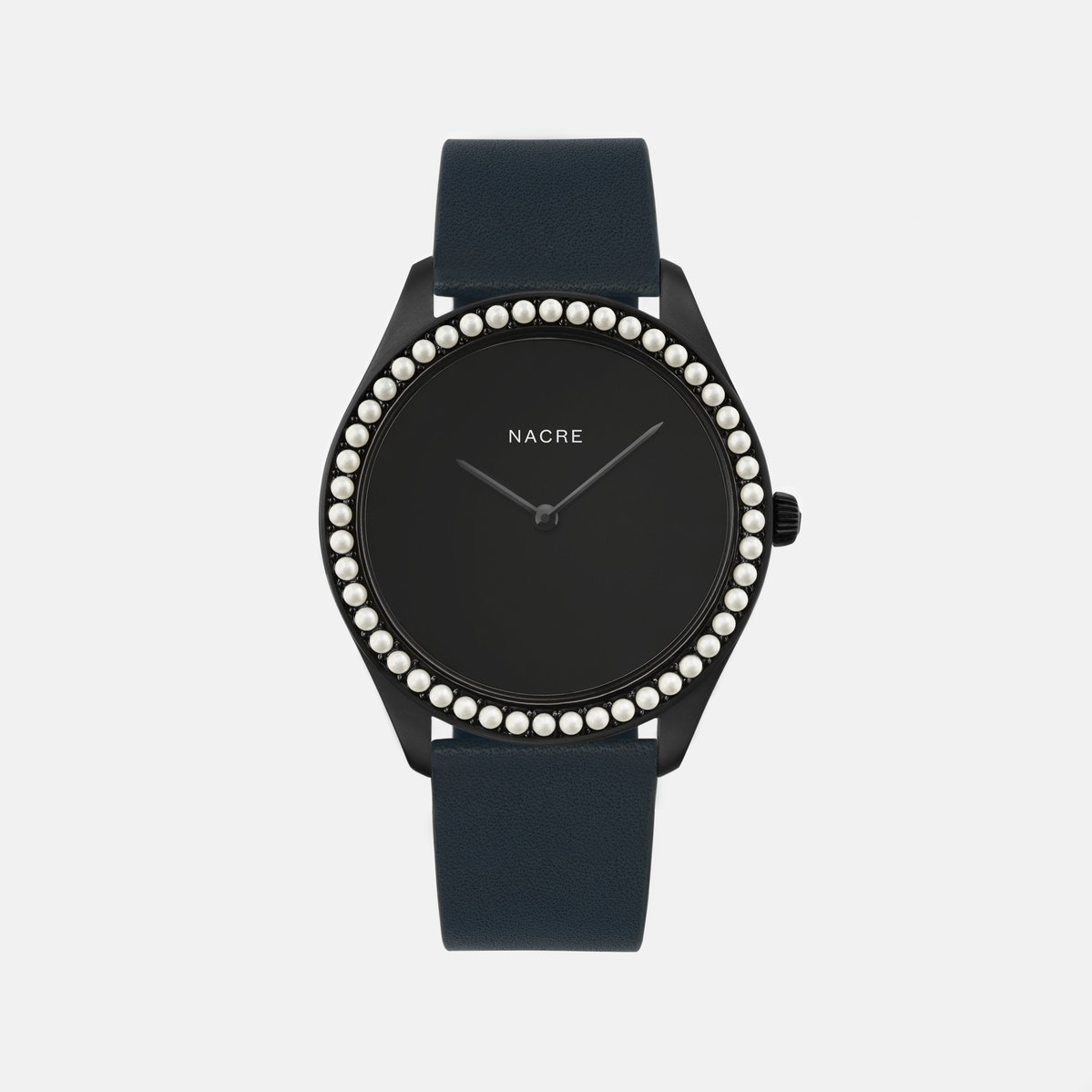 Lune 48 - Matte Black - Natural Leather