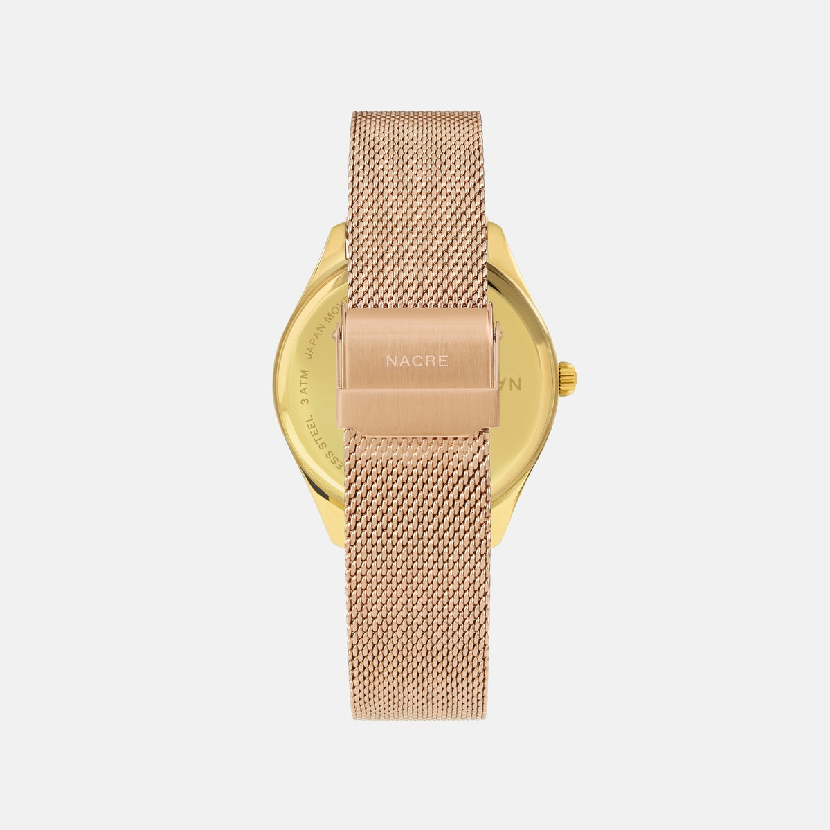 Lune 48 - Gold - Natural Leather