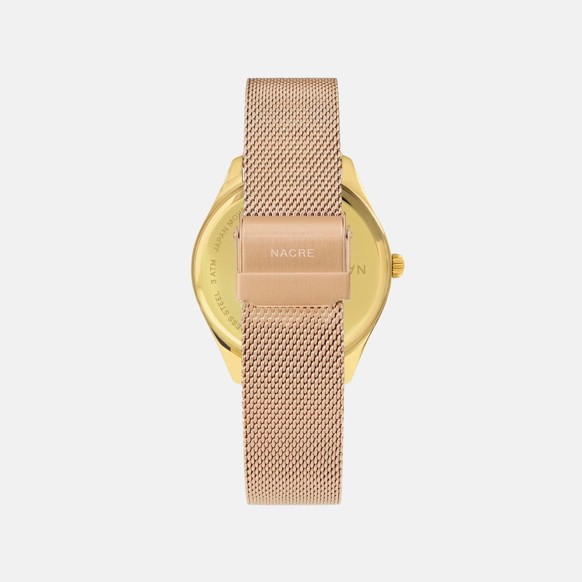 Lune 48 - Gold - Saddle Leather