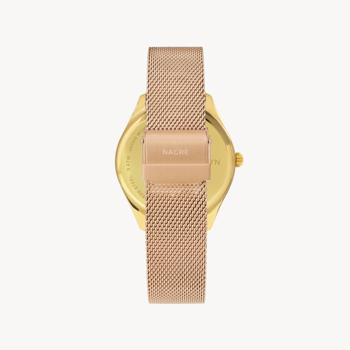 Lune 48 - Gold - Rose Gold Mesh