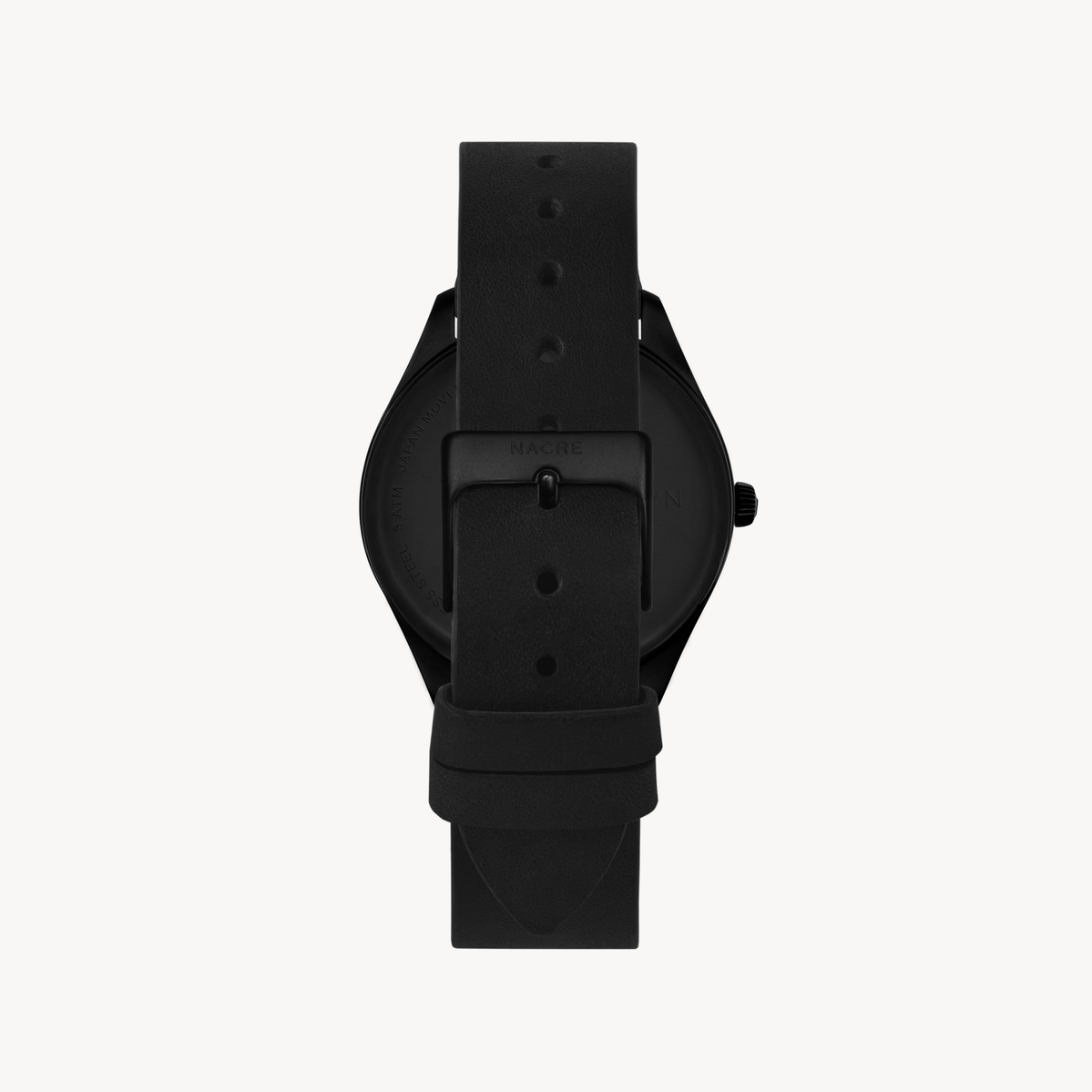 Lune 48 - Matte Black - Black Leather