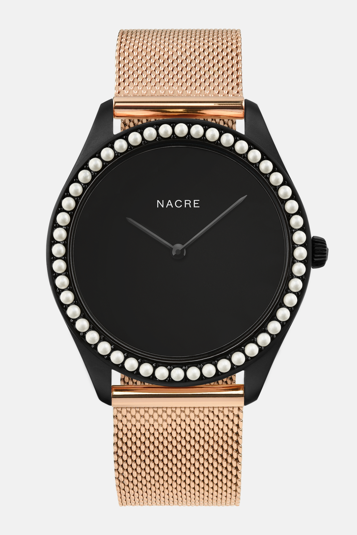 Lune 48 - Matte Black - Rose Gold Mesh