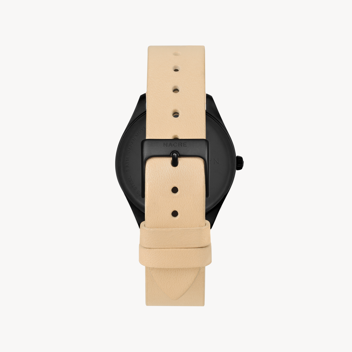 Lune 8 - Matte Black and White - Sand Leather