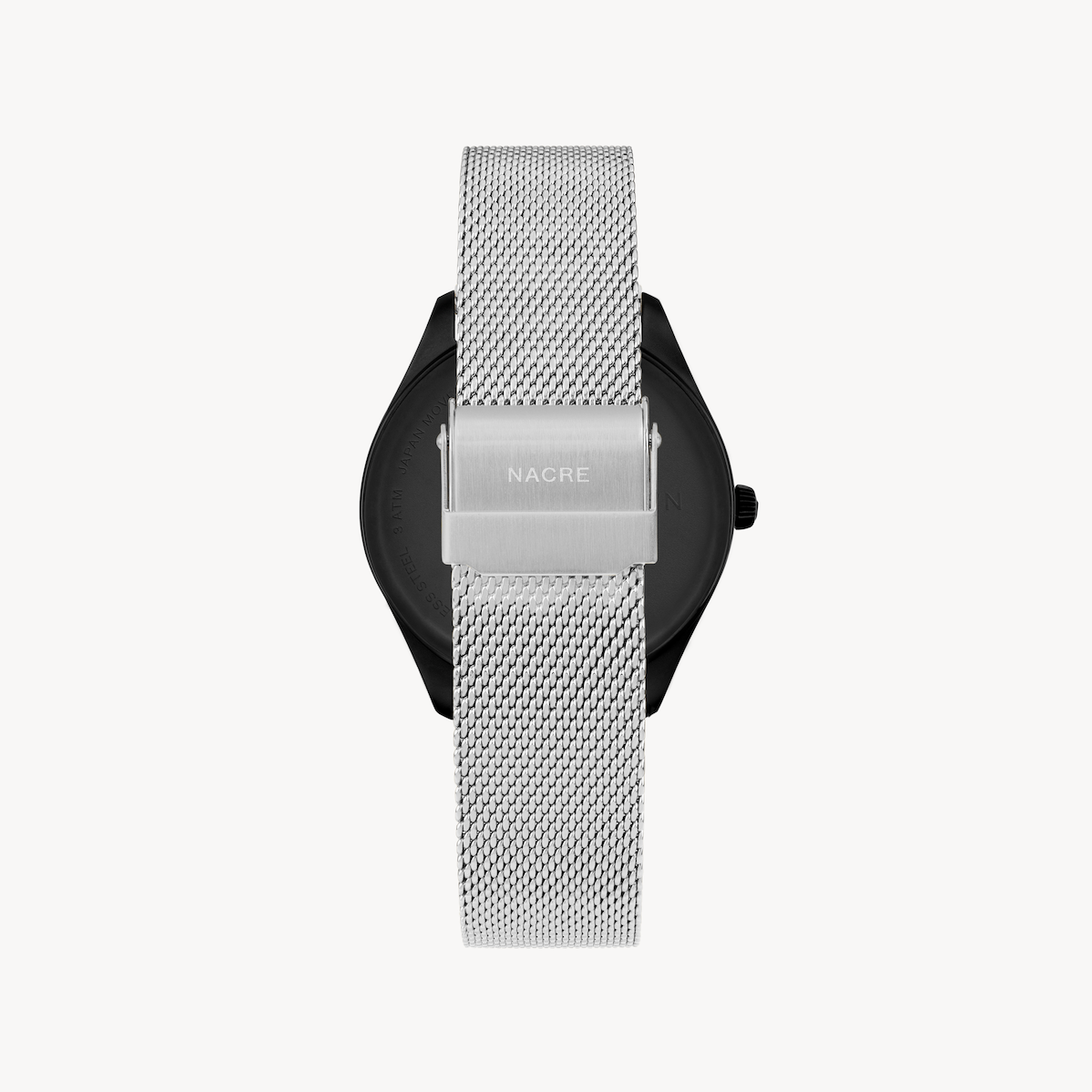 Lune 48 - Matte Black - Stainless Steel Mesh