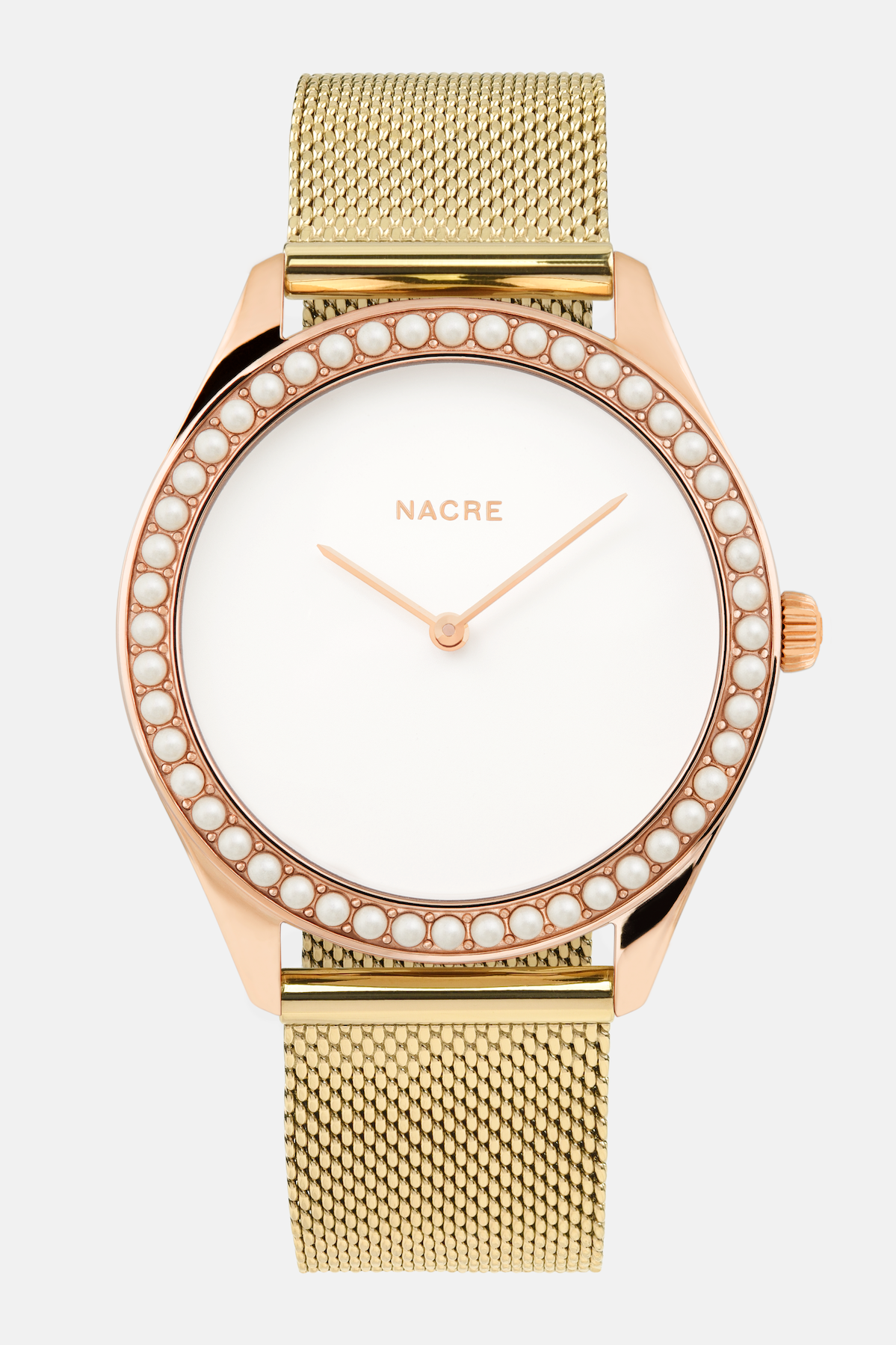 Lune 48 - Rose Gold - Gold Mesh