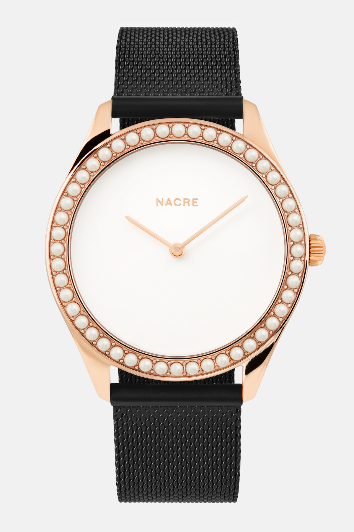 Lune 48 - Rose Gold - Matte Black Mesh
