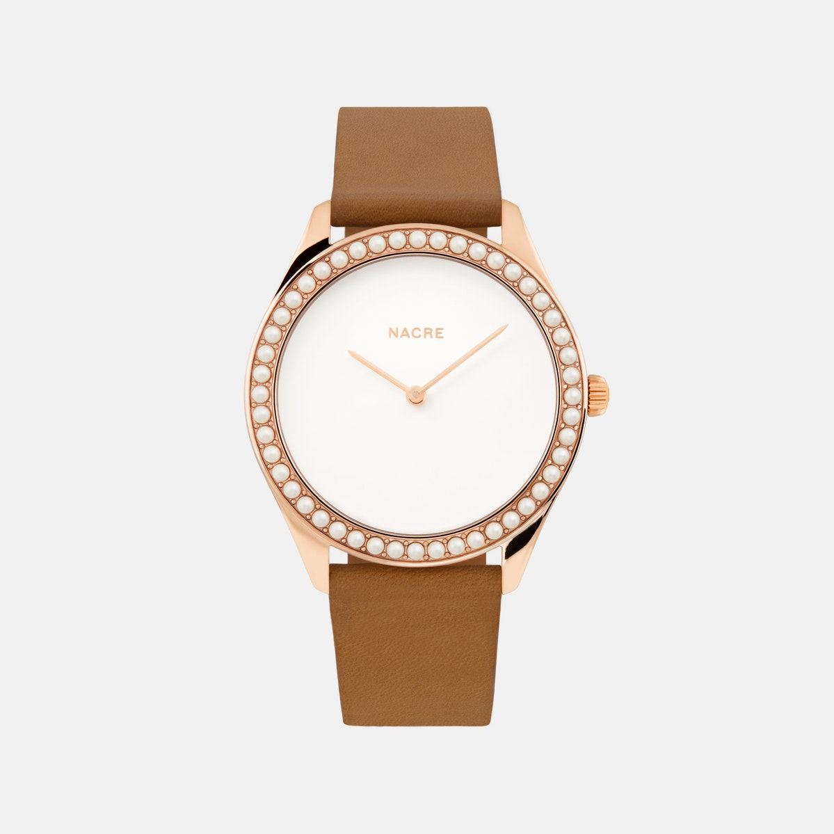Lune 48 - Rose Gold - Sand Leather