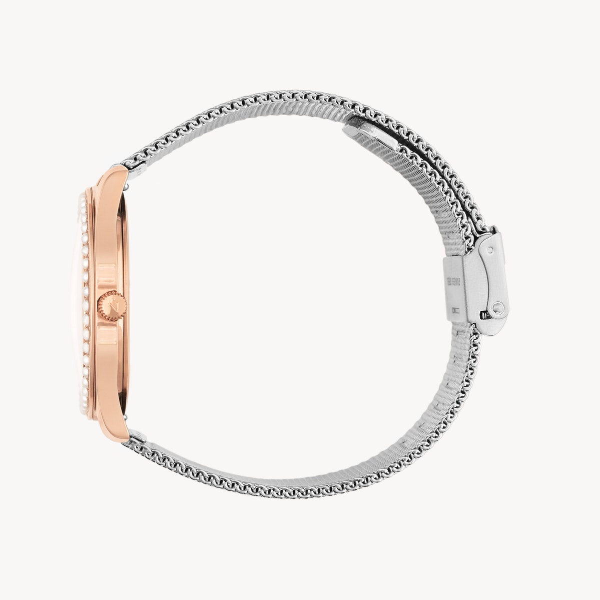 Lune 48 - Rose Gold - Stainless Steel Mesh