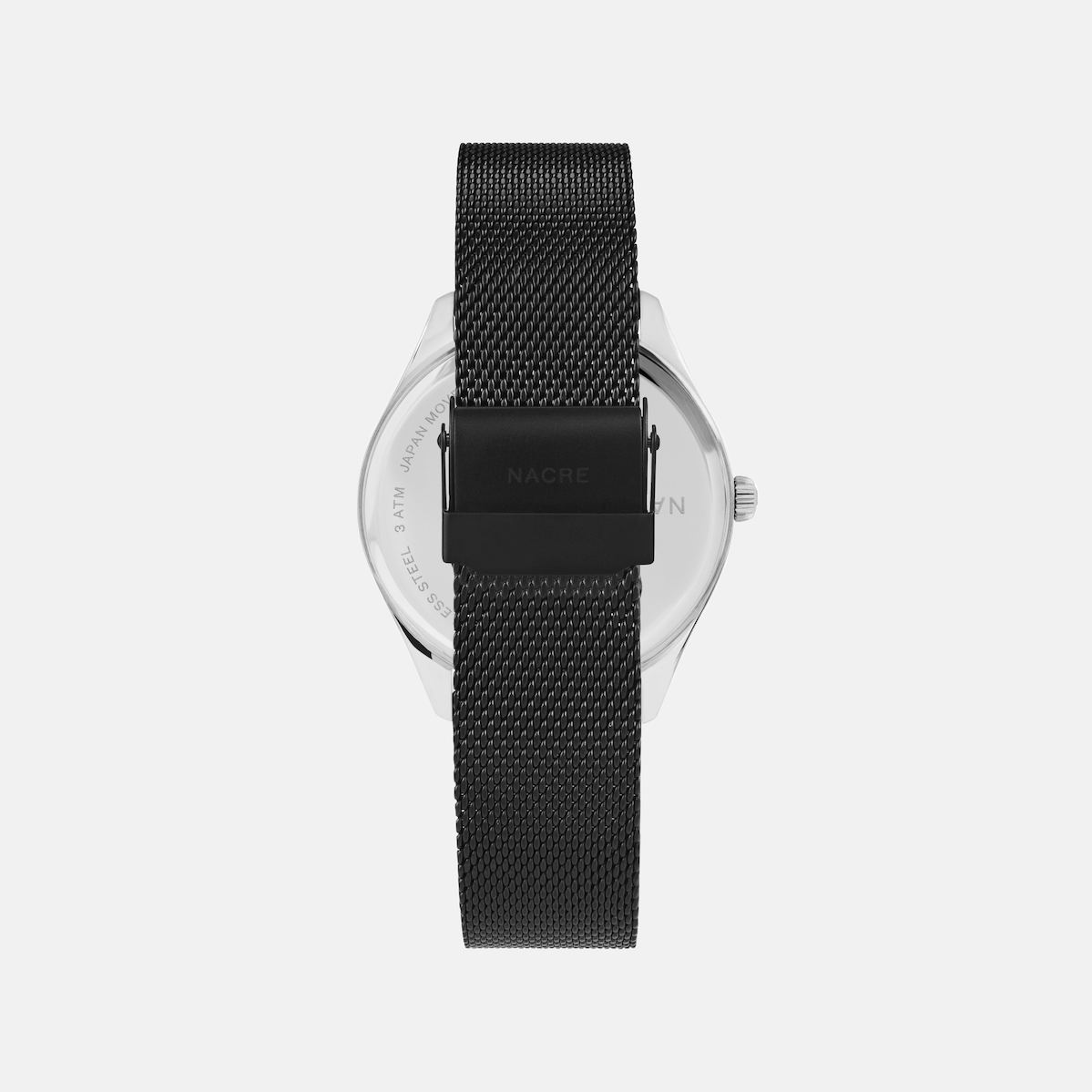 Lune 48 - Stainless Steel - Matte Black Mesh