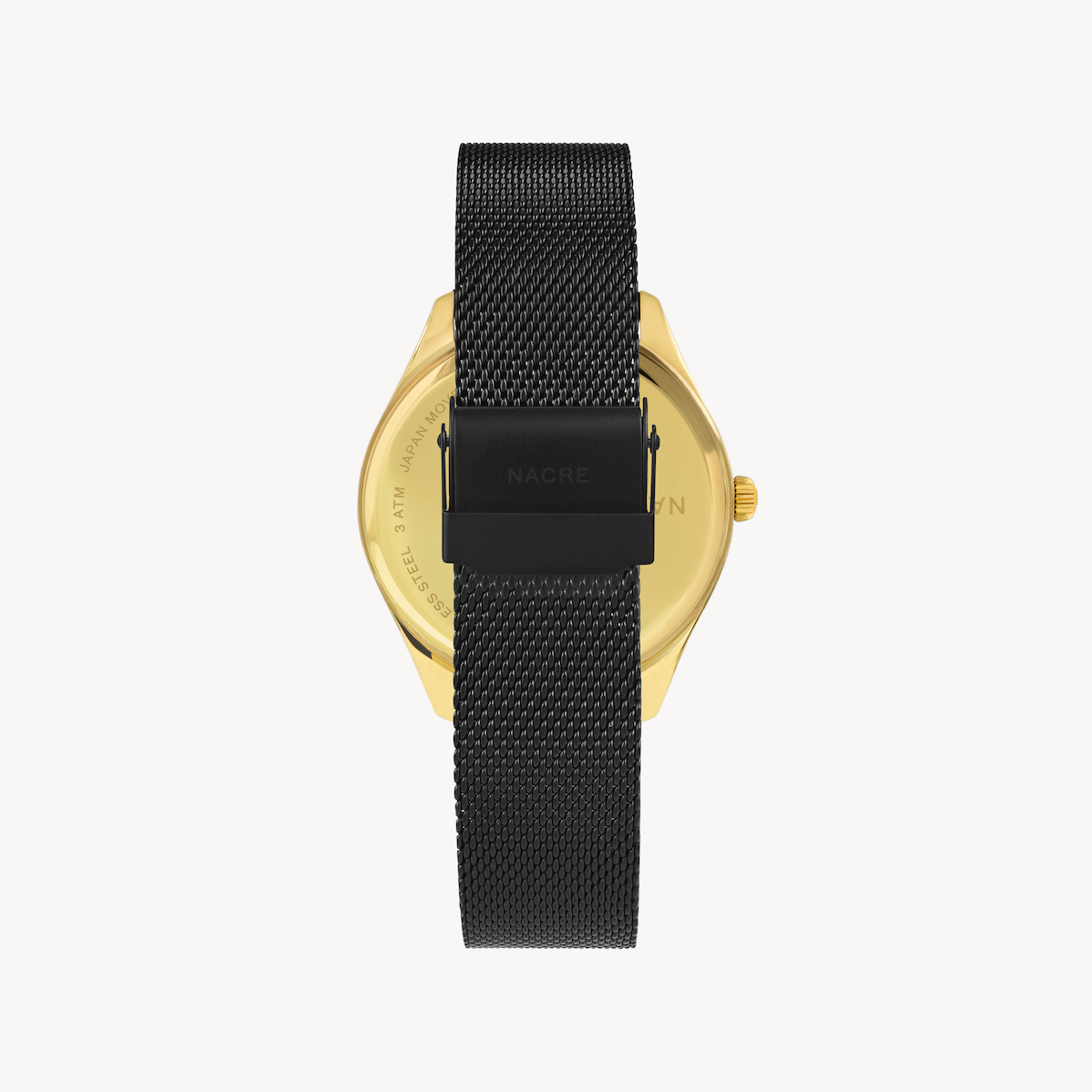 Lune 8 - Gold and White - Matte Black Mesh