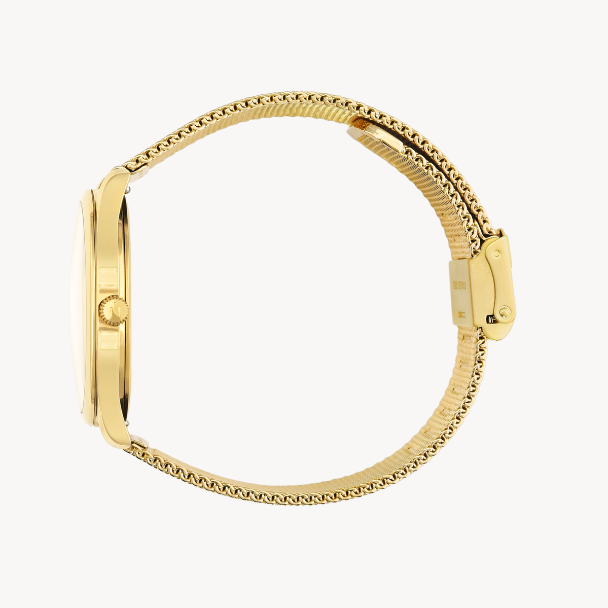 Lune 8 - Gold and White - Gold Mesh