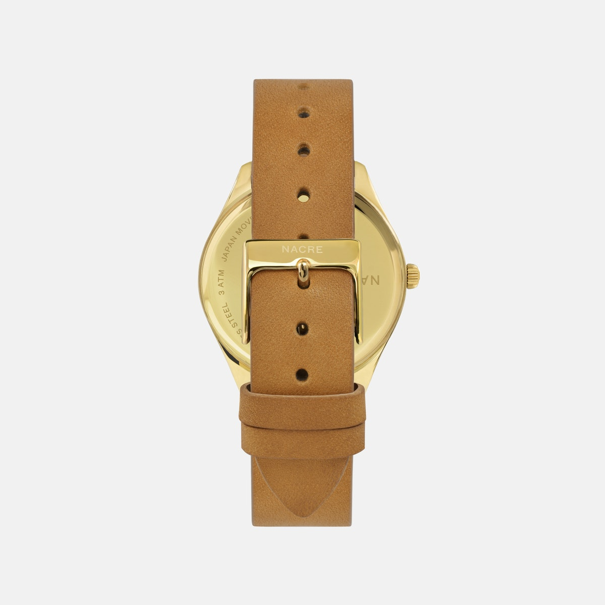 Lune 8 - Gold - Natural Leather