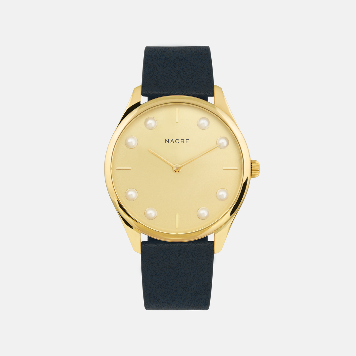 Lune 8 - Gold - Navy Leather