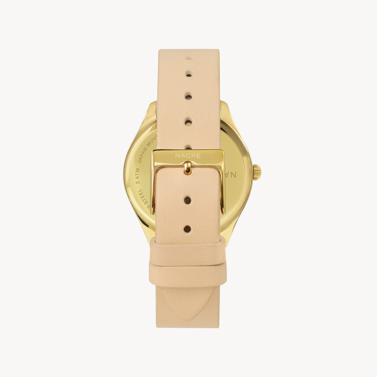 Lune 8 - Gold - Sand Leather