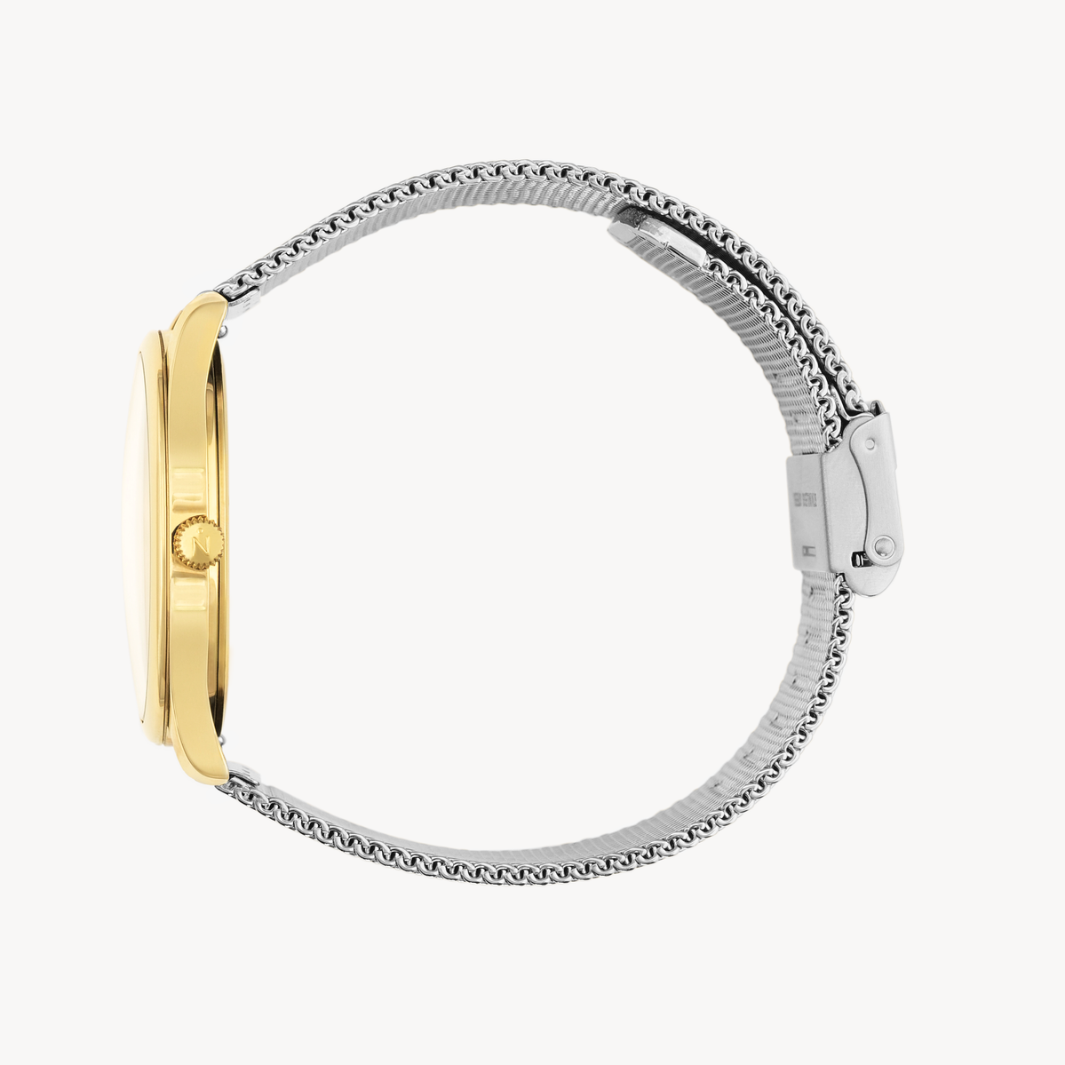 Lune 8 - Gold - Stainless Steel Mesh