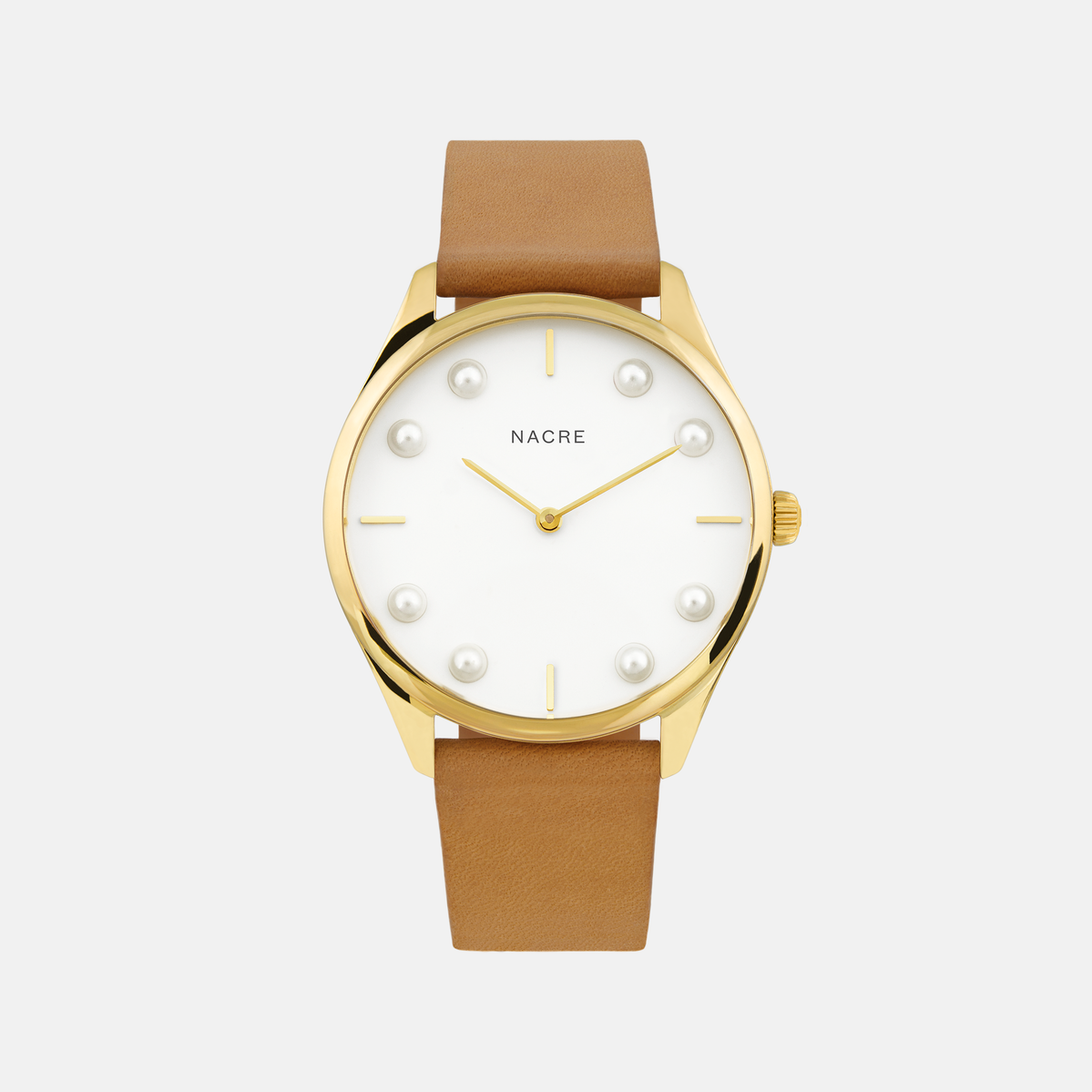 Lune 8 - Gold and White - Natural Leather