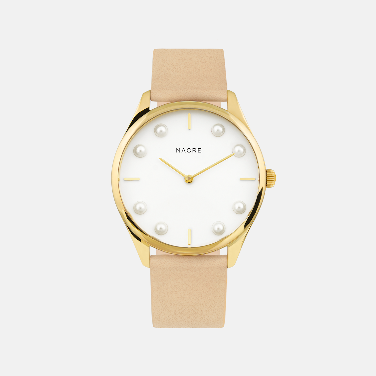 Lune 8 - Gold and White - Saddle Leather