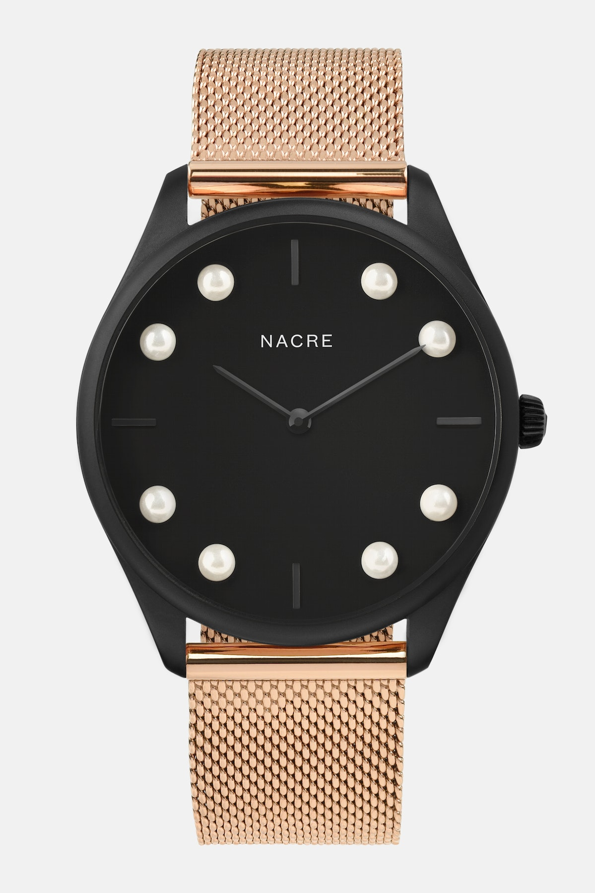 Lune 8 - Matte Black - Rose Gold Mesh