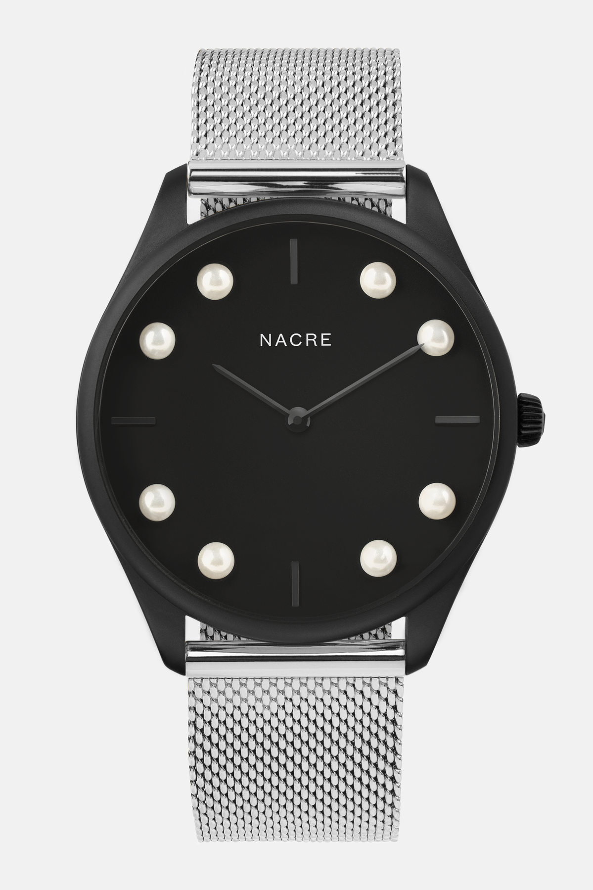 Lune 8 - Matte Black - Stainless Steel Mesh