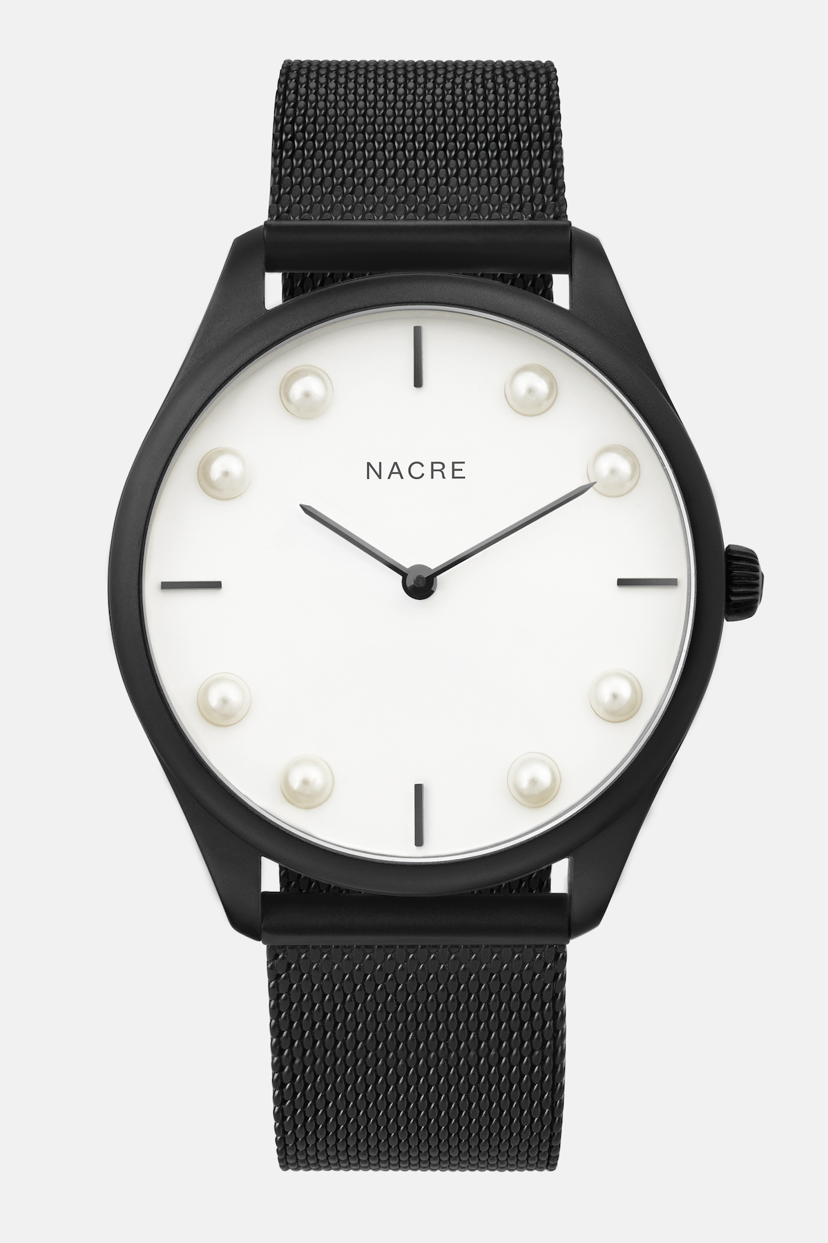 Lune 8 - Matte Black and White - Matte Black Mesh