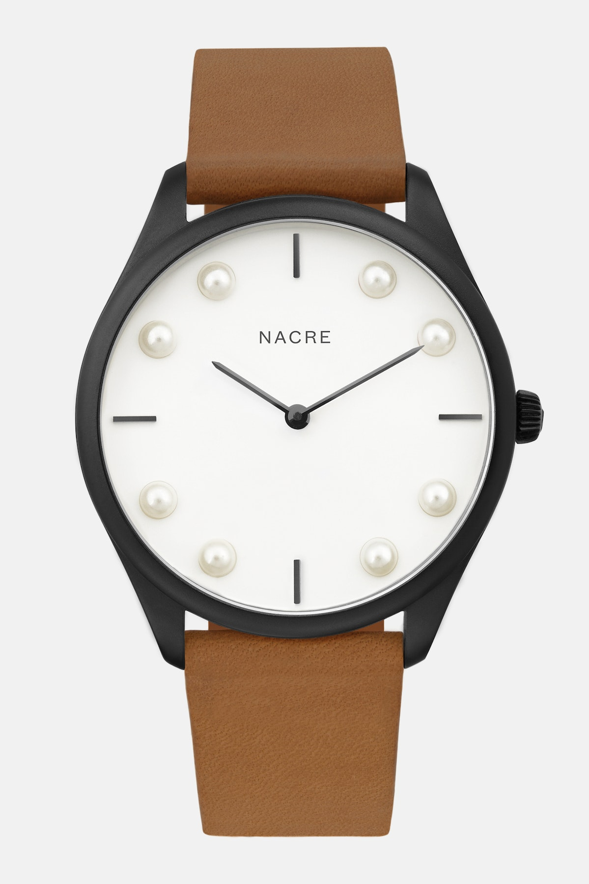 Lune 8 - Matte Black and White - Saddle Leather