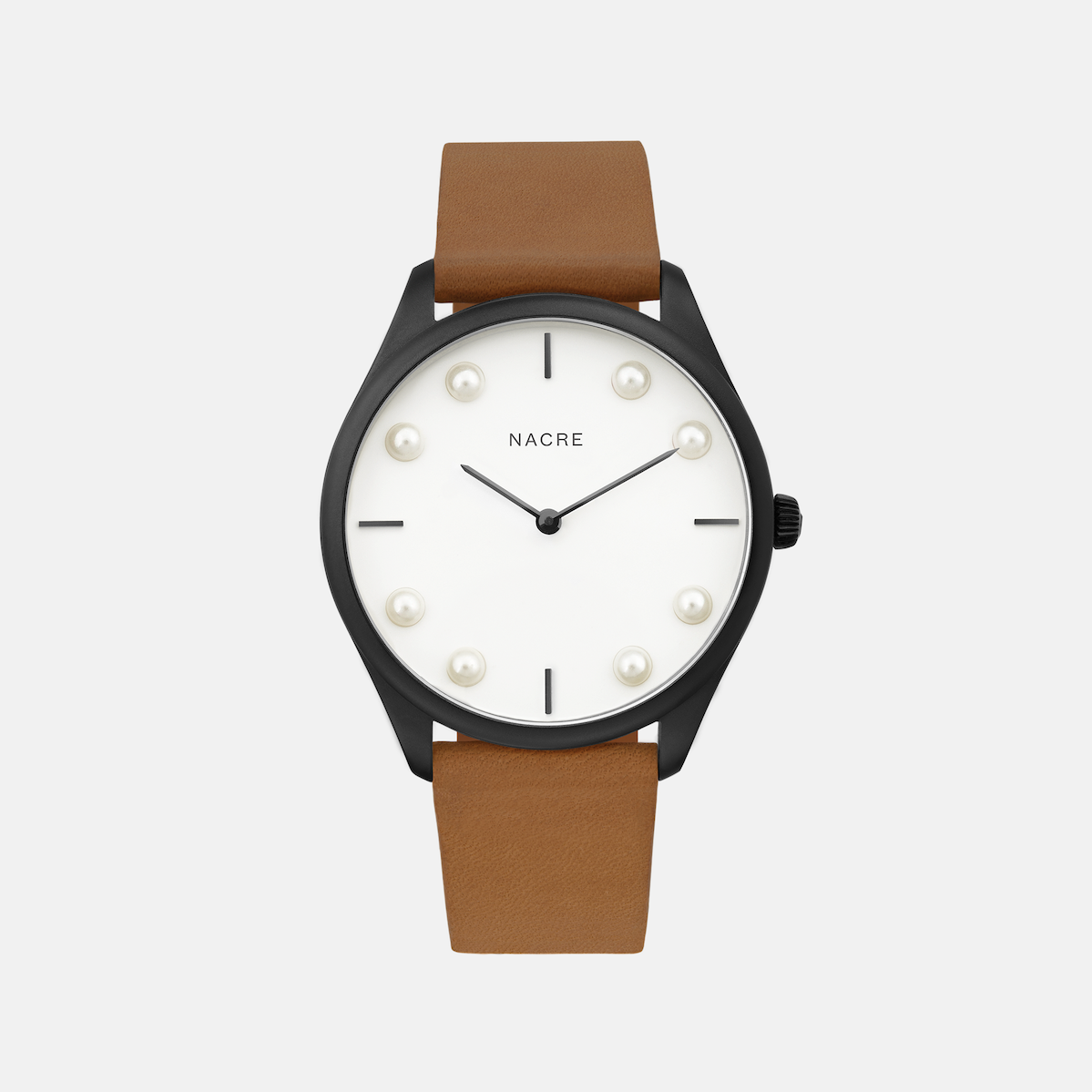 Lune 8 - Matte Black and White - Natural Leather