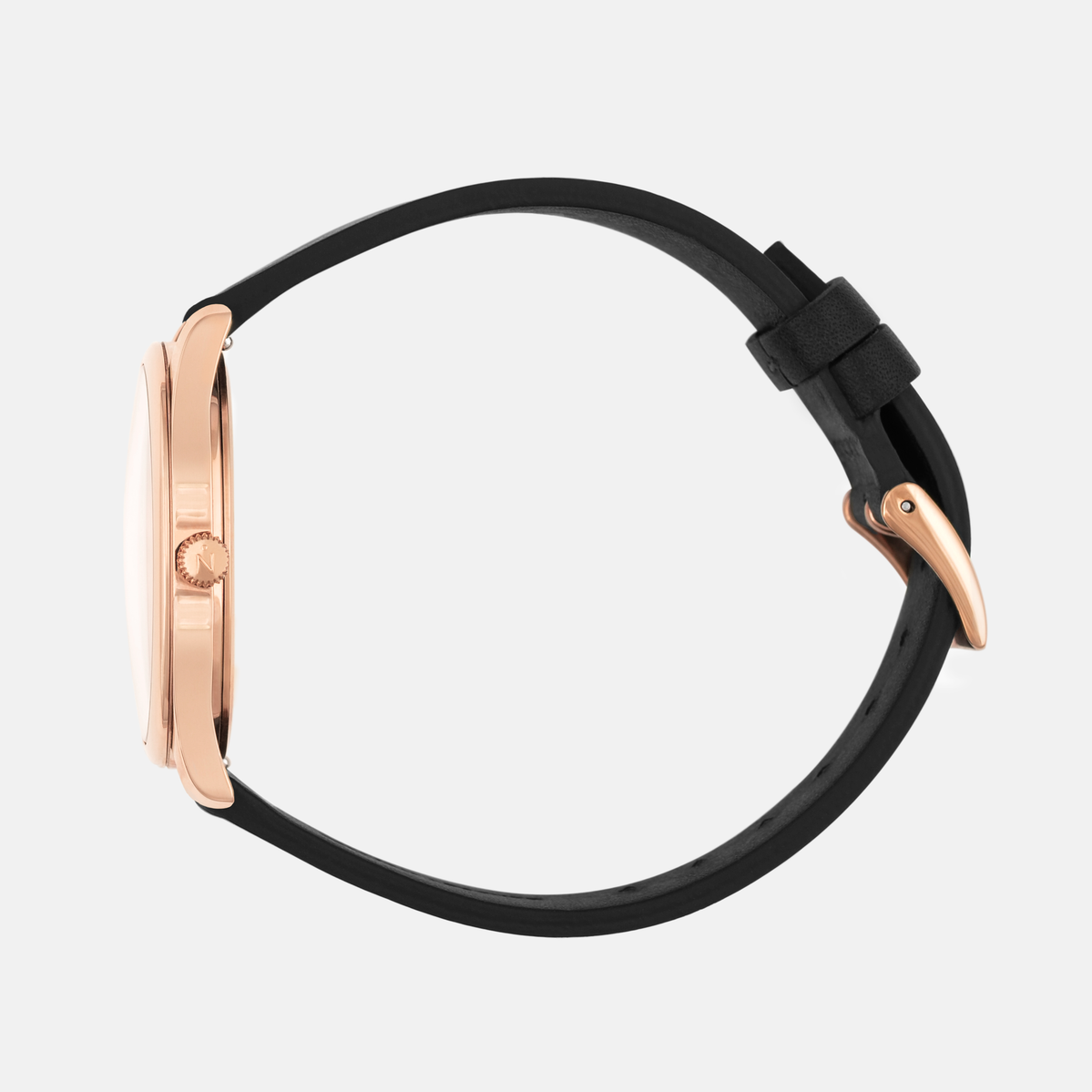 Lune 8 - Rose Gold - Natural Leather