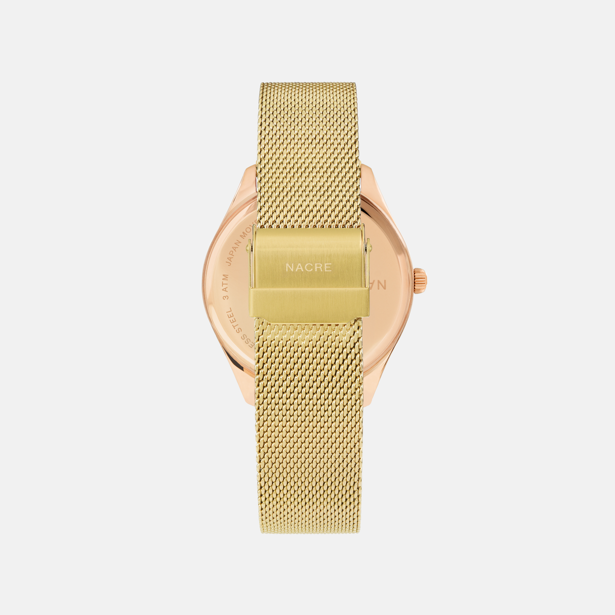 Lune 8 - Rose Gold and White - Gold Mesh