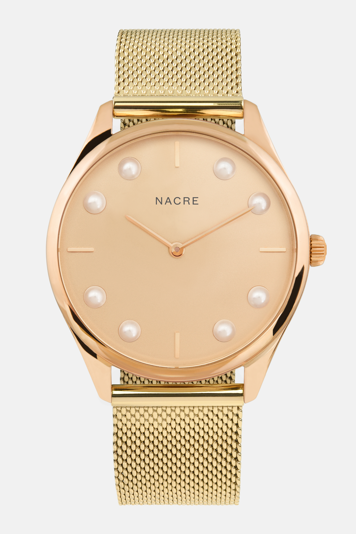 Lune 8 - Rose Gold - Gold Mesh