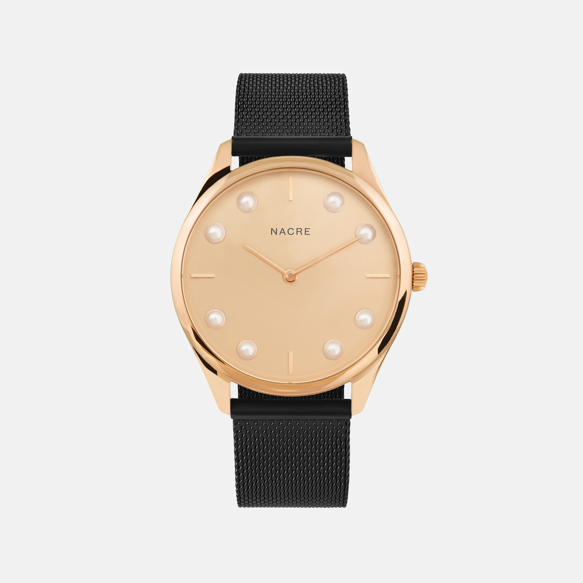 Lune 8 - Rose Gold - Matte Black Mesh