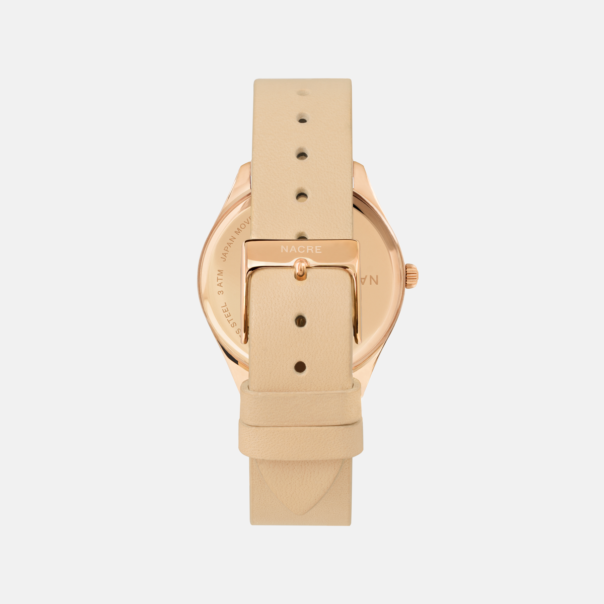 Lune 8 - Rose Gold - Black Leather