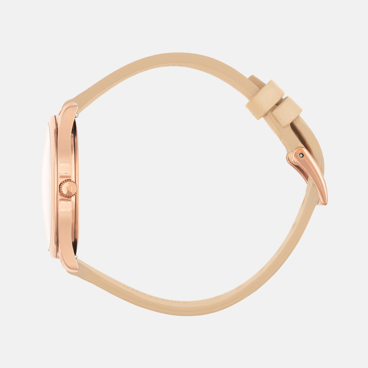 Lune 8 - Rose Gold - Saddle Leather