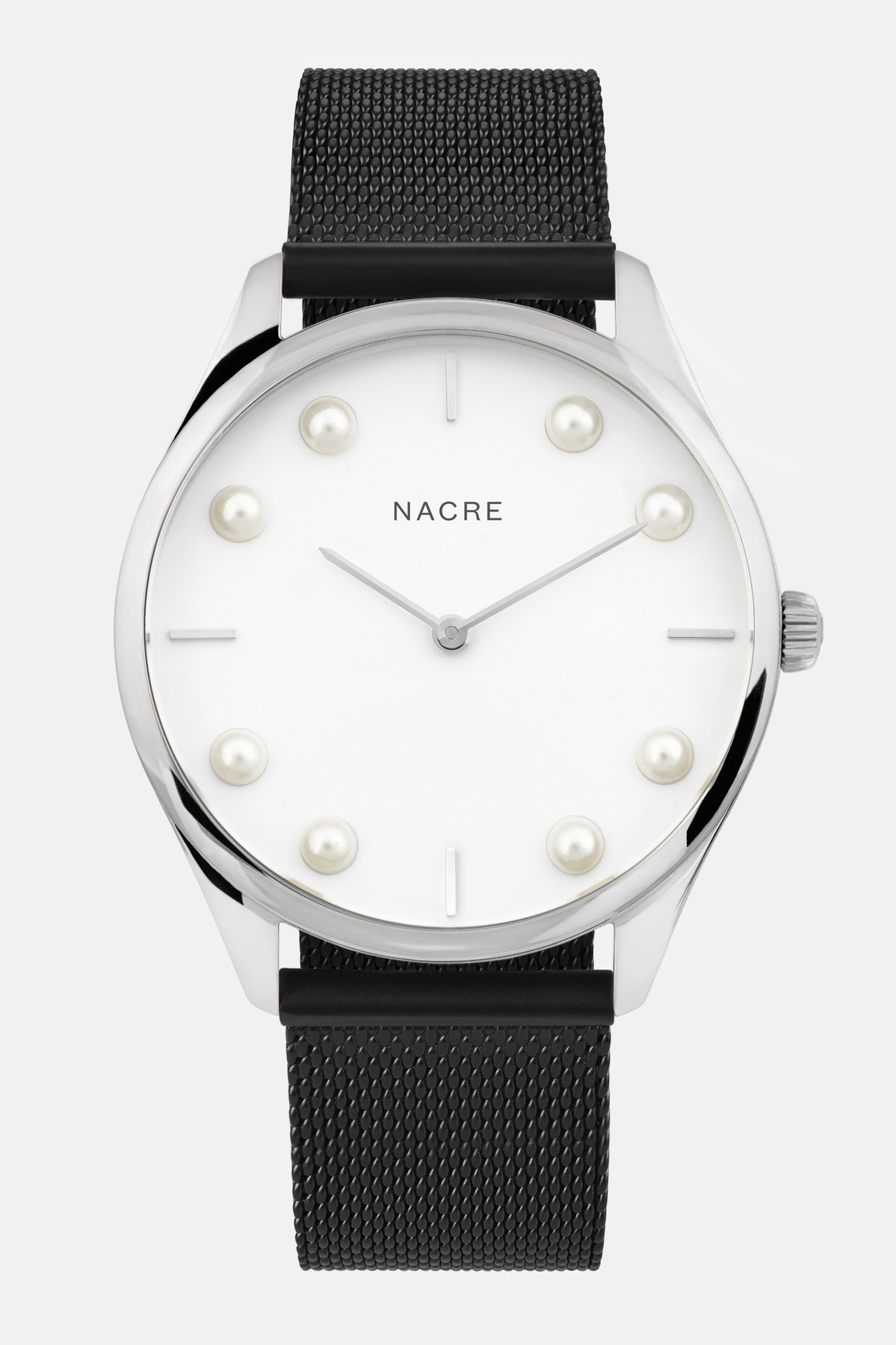 Lune 8 - Stainless Steel - Matte Black Mesh