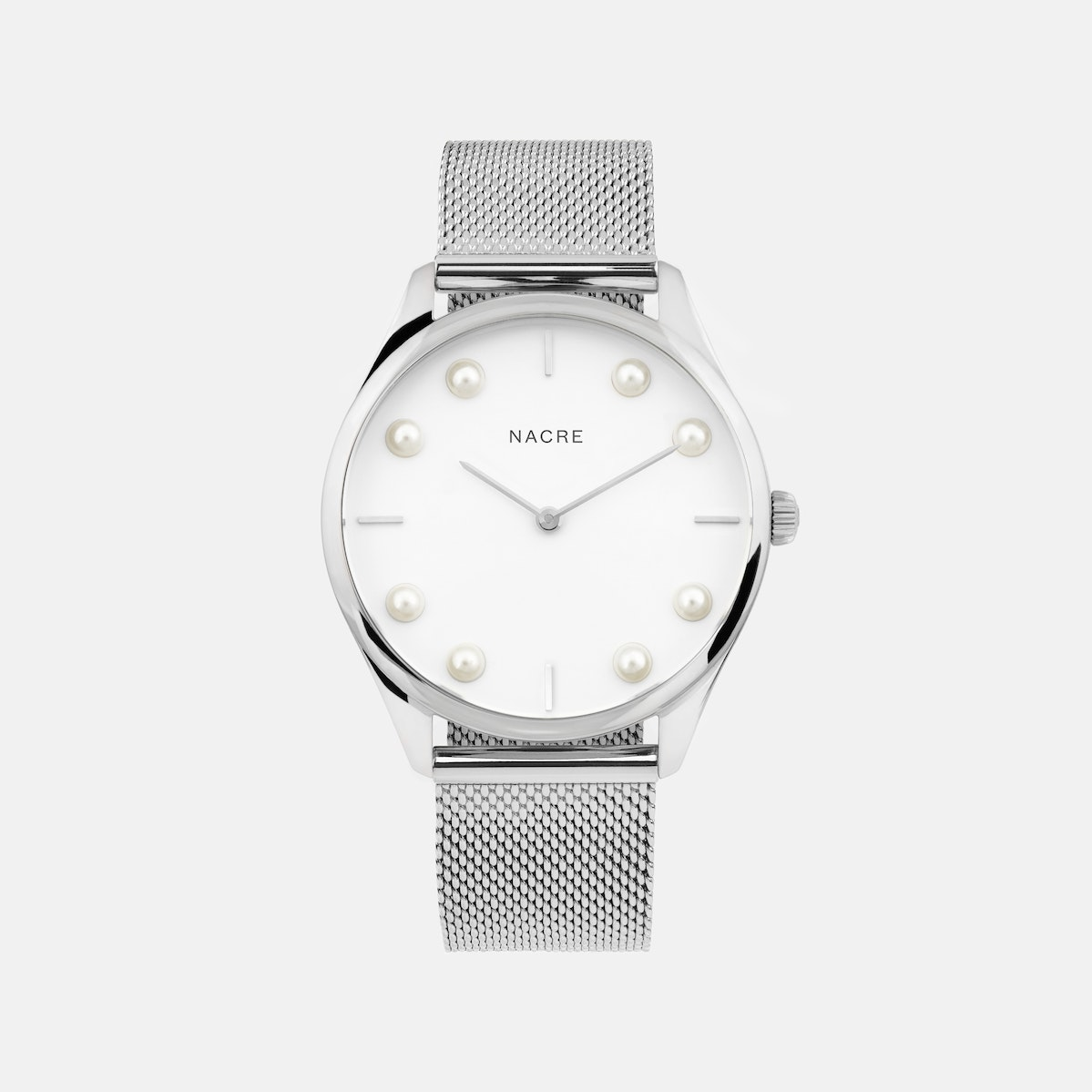 Lune 8 - Stainless Steel - Natural Leather