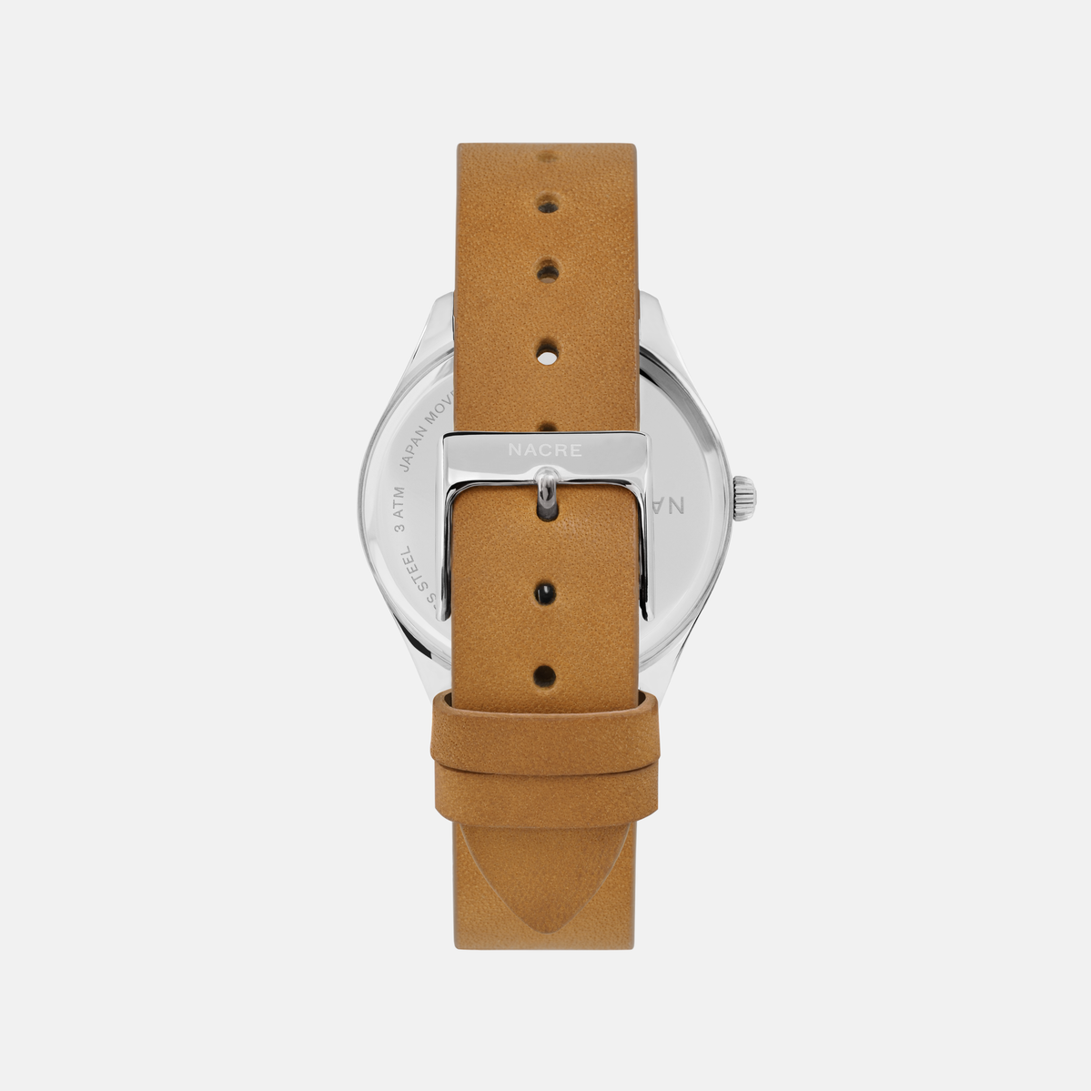 Lune 8 - Stainless Steel - Sand Leather
