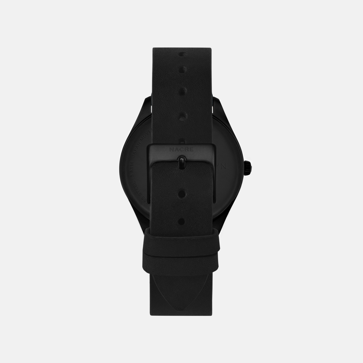 Lune Eclipse - Matte Black - Natural Leather