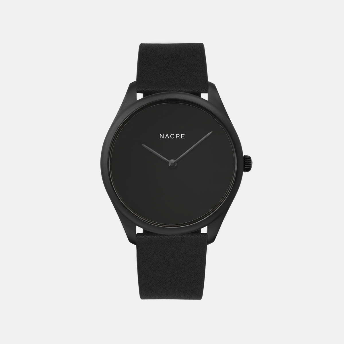 Lune Eclipse - Matte Black - Navy Leather