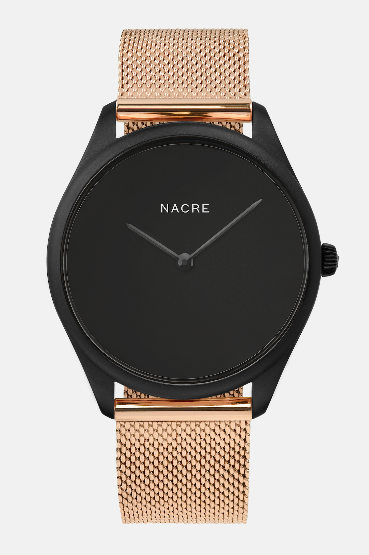 Lune Eclipse - Matte Black - Rose Gold Mesh