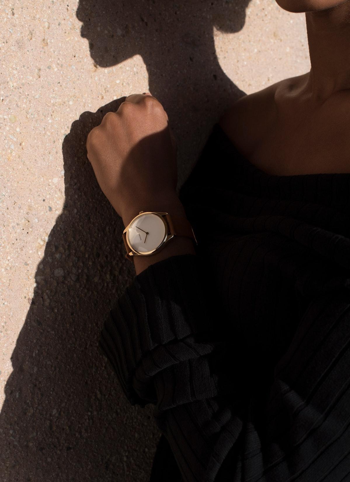 Lune - Gold - Saddle Leather