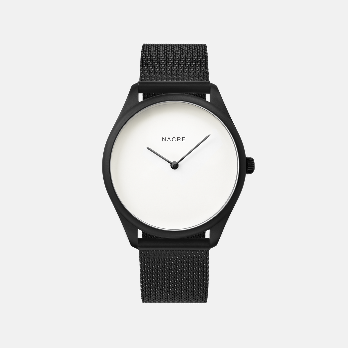 Lune - Matte Black - Natural Leather