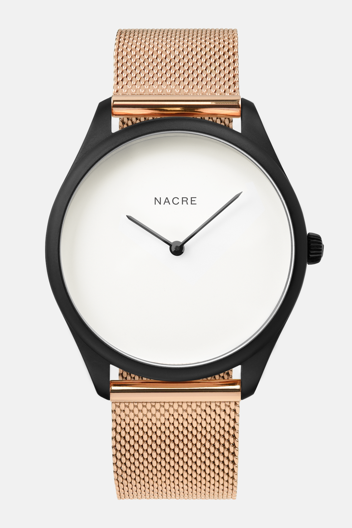 Lune - Matte Black - Rose Gold Mesh