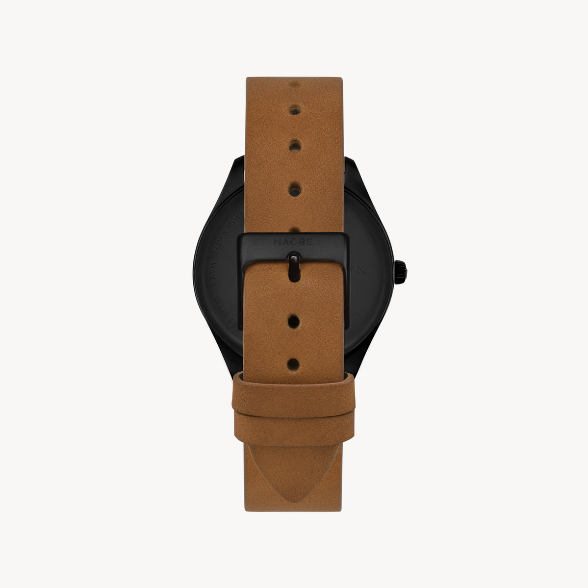 Mini Lune - Matte Black - Saddle Leather
