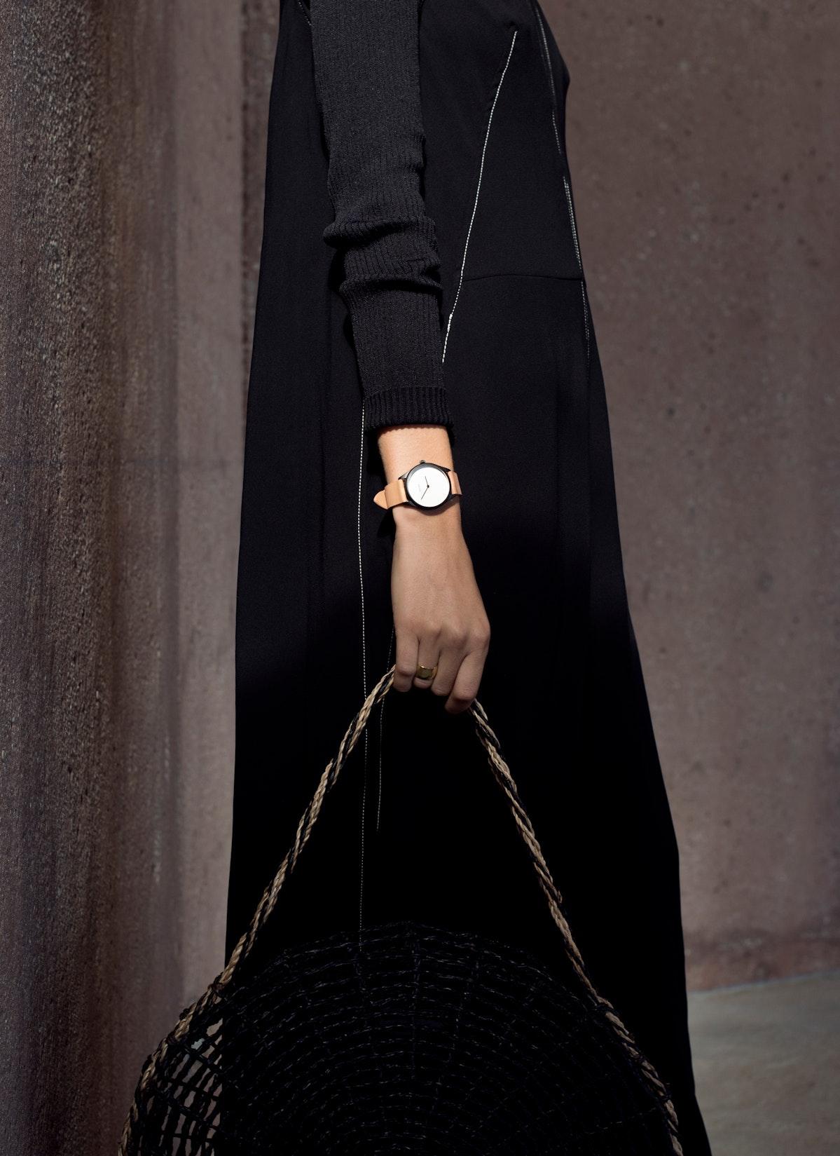 Lune - Matte Black - Sand Leather