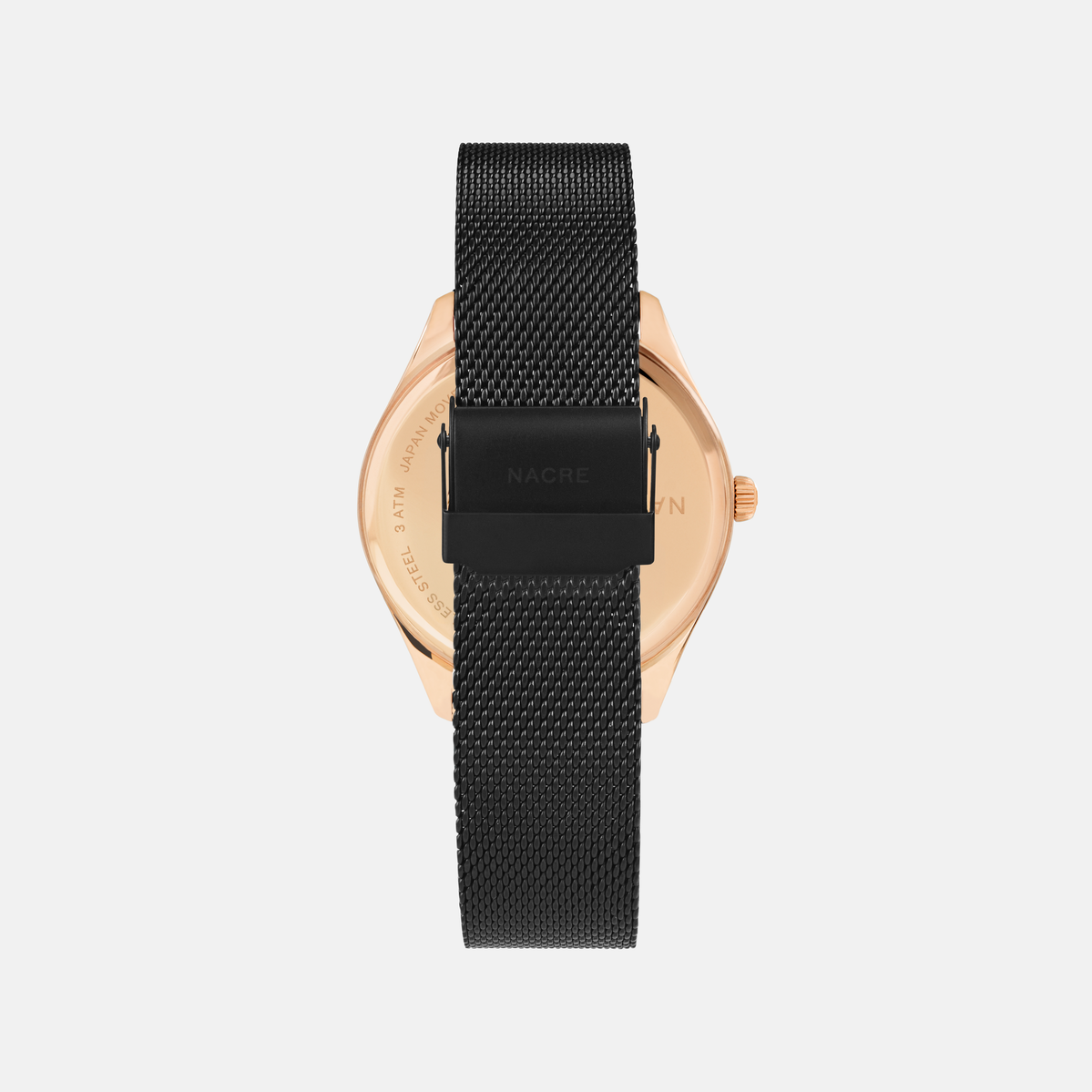 Lune - Rose Gold - Matte Black Mesh