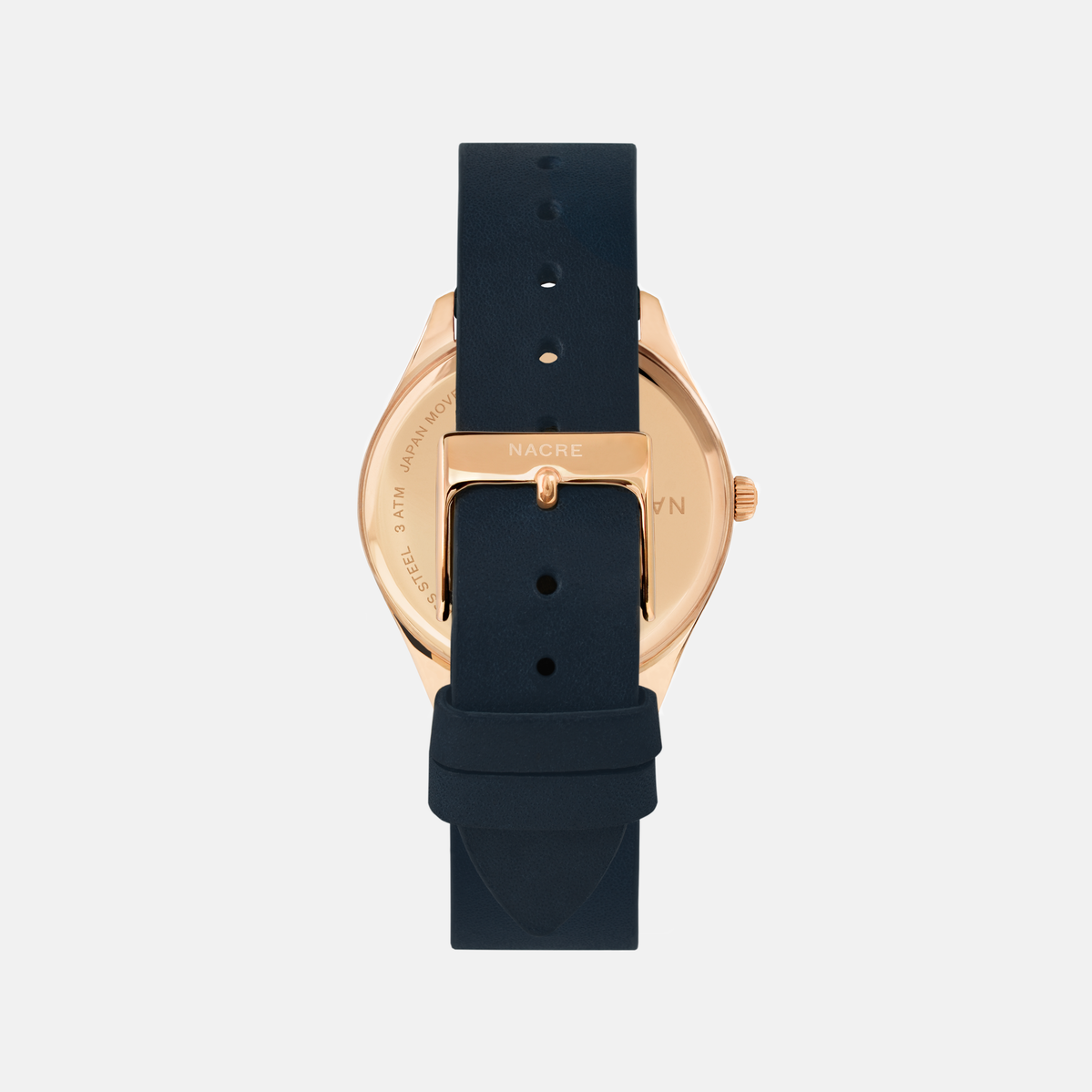 Lune - Rose Gold - Natural Leather