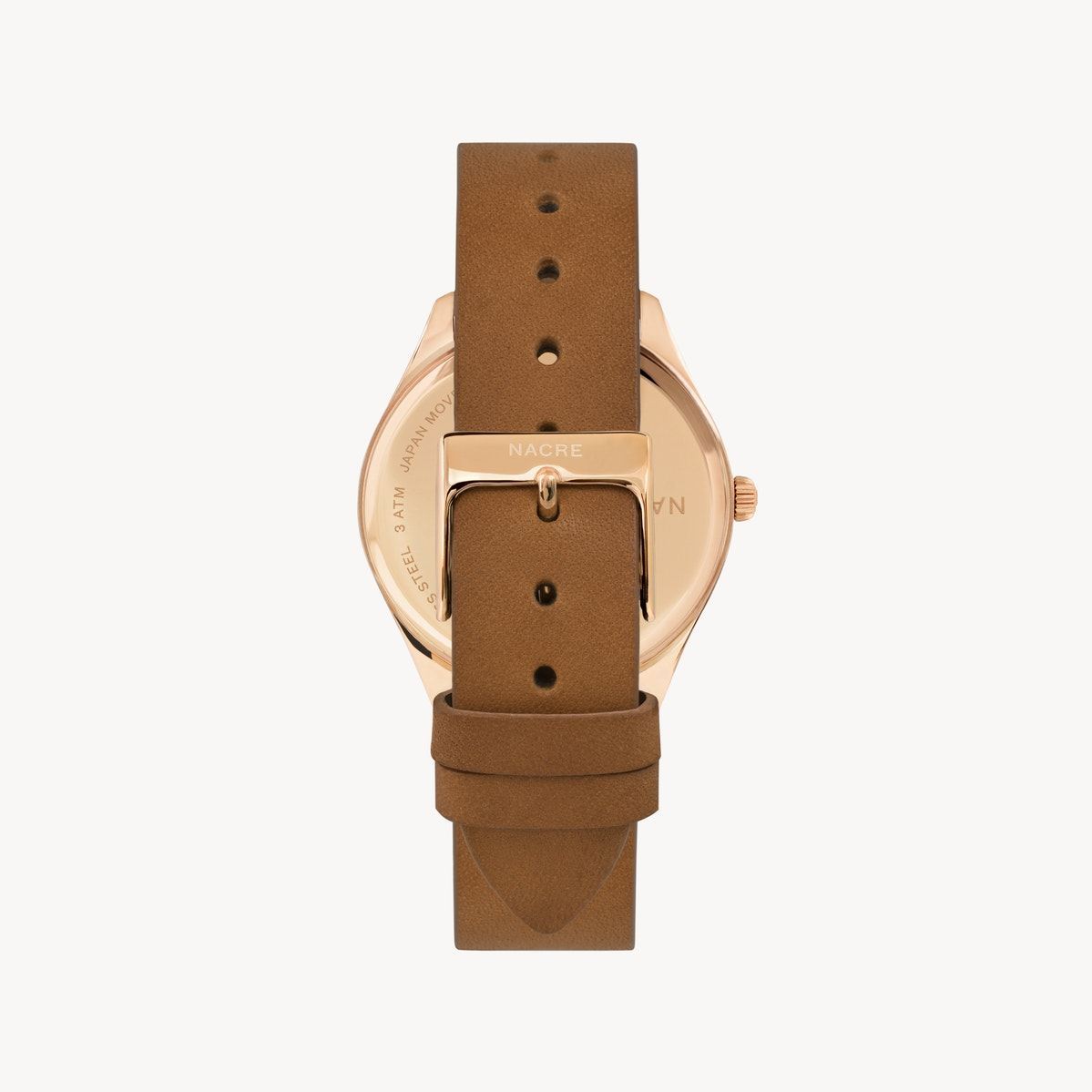 Lune - Rose Gold - Saddle Leather