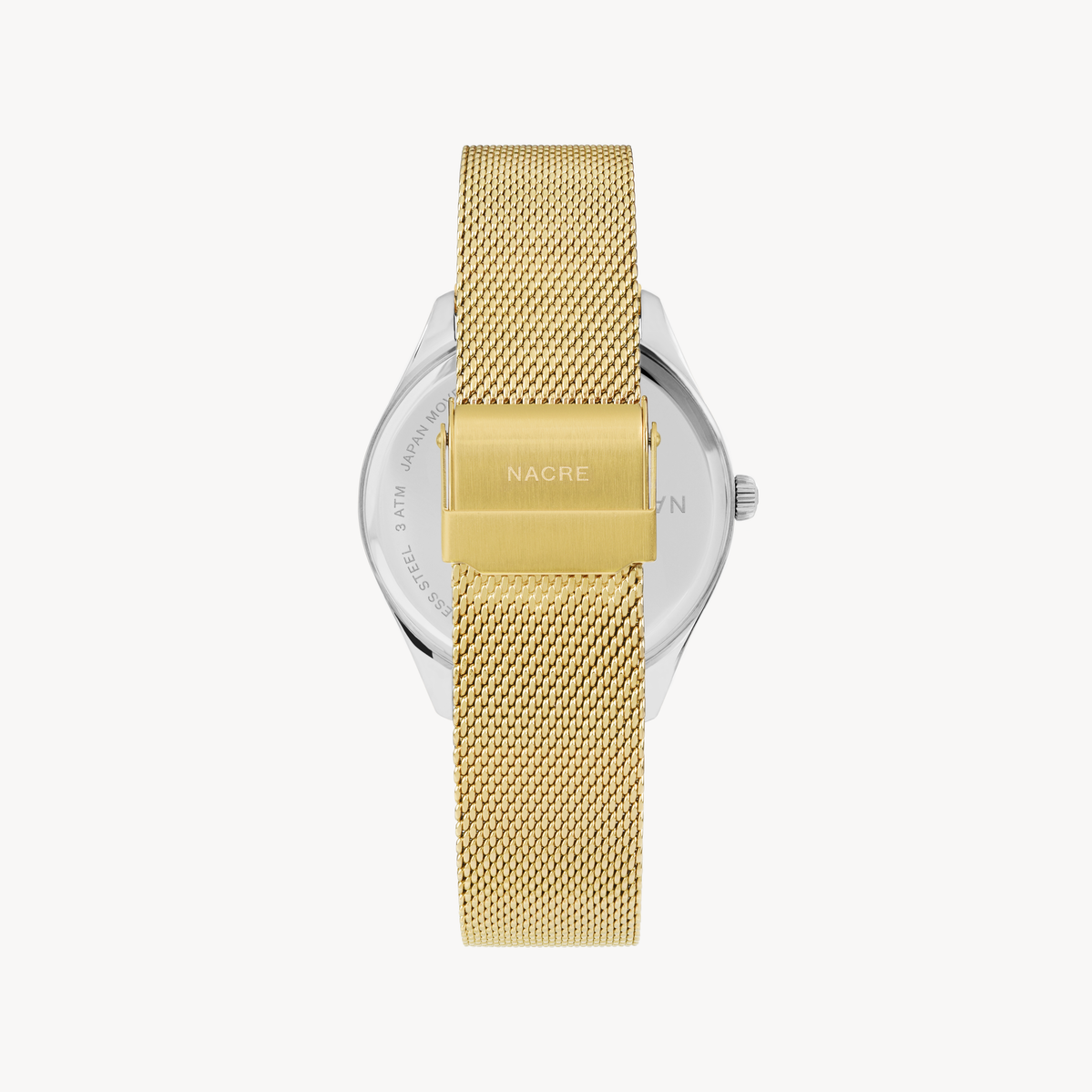 Lune - Stainless Steel - Gold Mesh