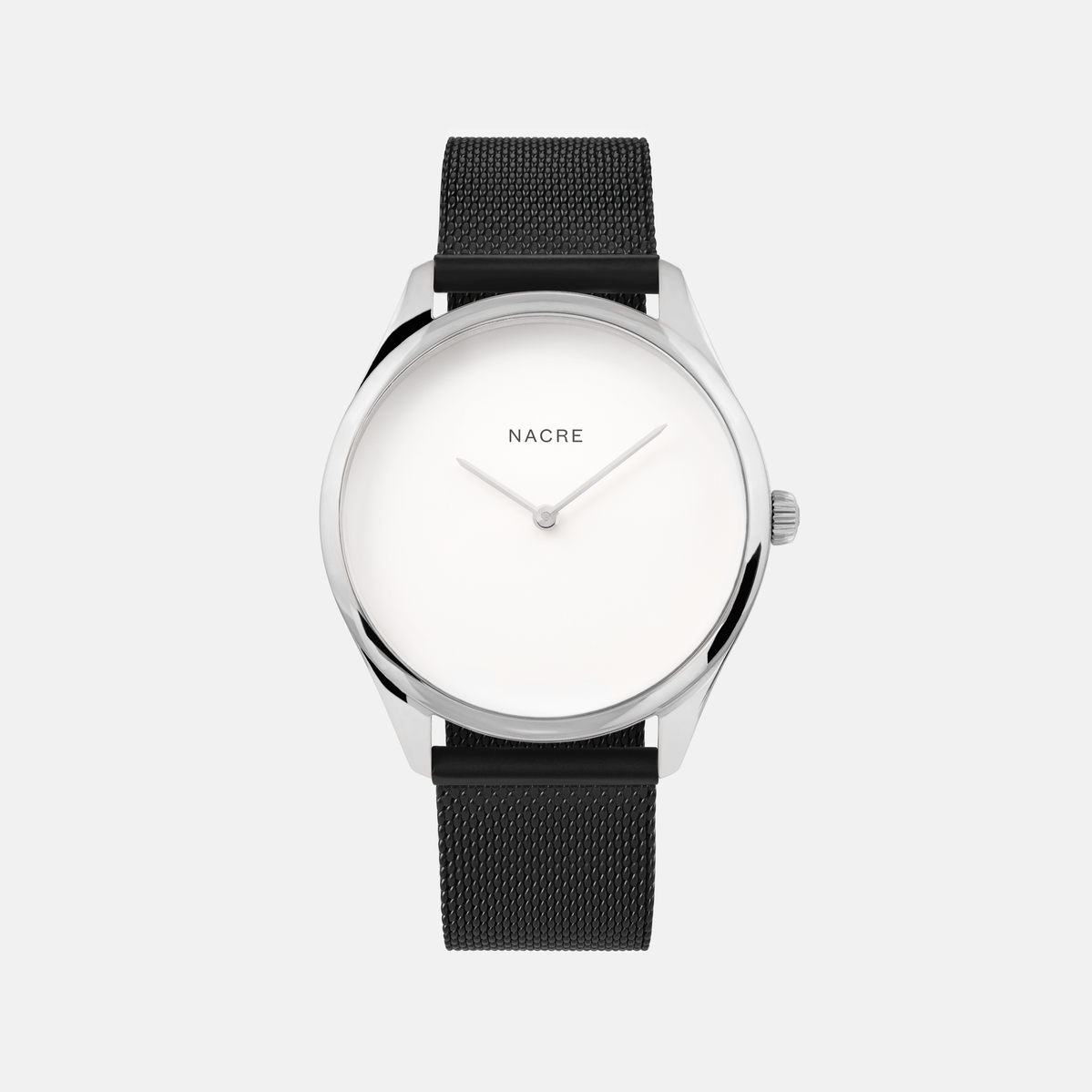 Lune - Stainless Steel - Matte Black Mesh