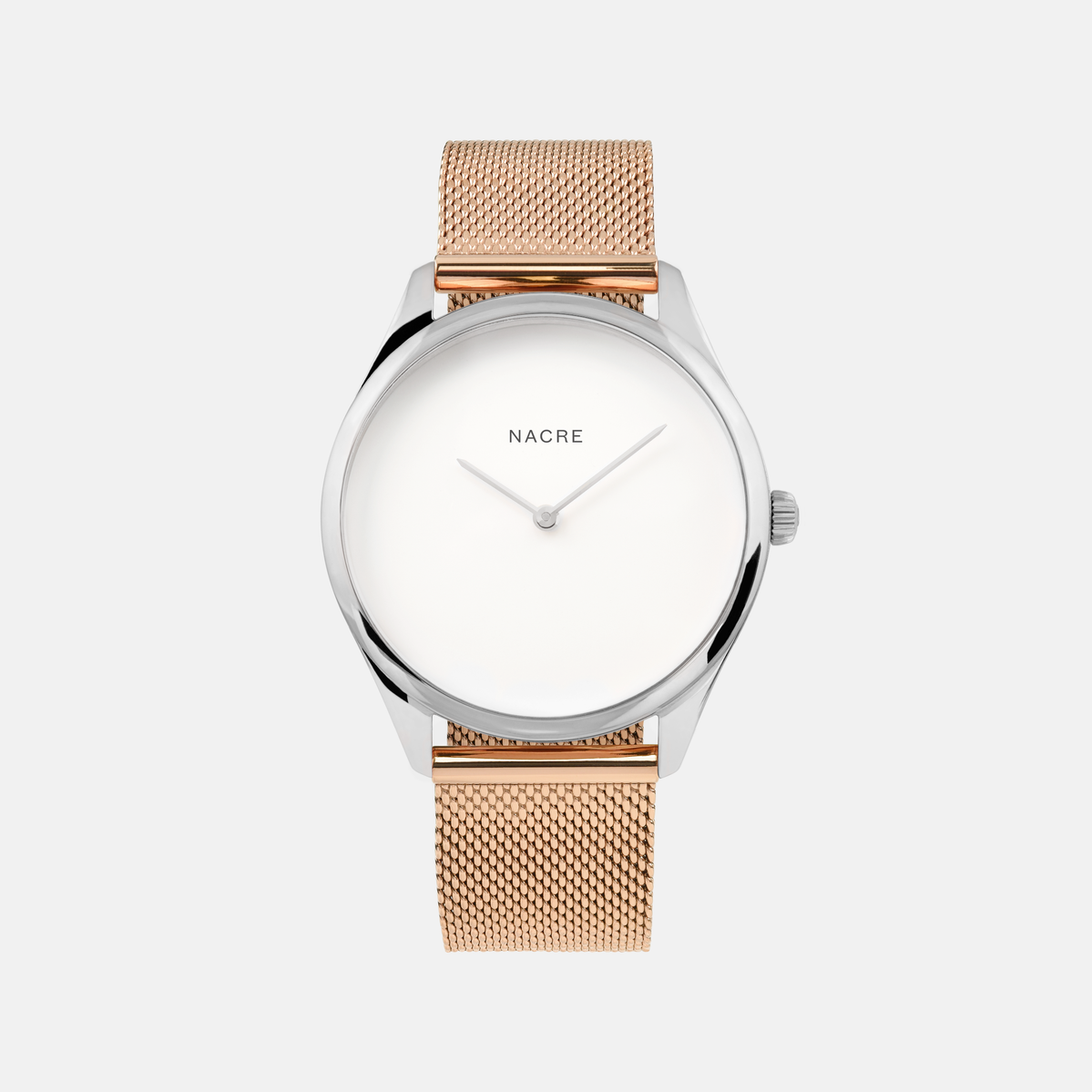 Lune - Stainless Steel - Sand Leather